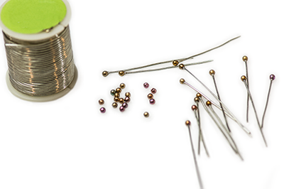 Create custom head pins with Finial beads.