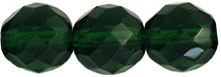 Firepolish 12mm : Green Emerald