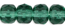 Gemstone Donut 4/6mm : Prairie Green