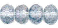 Gemstone Donut 7/5mm : Luster - Transparent Blue