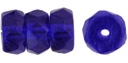 Fire-Polish 6 x 3mm - Rondelle : Cobalt