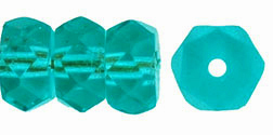 Fire-Polish 6 x 3mm - Rondelle : Lt Teal