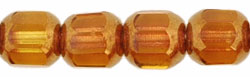 Antique Style Octagonal 6mm - Bronze (smooth) : Med Topaz