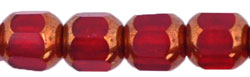 Antique Style Octagonal 6mm - Bronze (smooth) : Siam Ruby