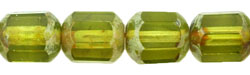 Antique Style Octagonal 8mm : Olivine