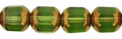 Antique Style Octagonal 8mm - Bronze (smooth) : Olivine