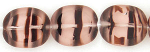 Oval Window Beads 12/14mm : Rosaline Tortoise