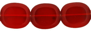 Oval Window Beads 12/14mm : Siam Ruby