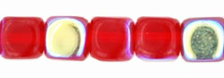Cubes - 5/6mm : Siam Ruby AB