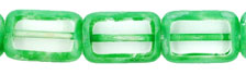 Polished Rectangles 8/12mm : Crystal - Green Picasso