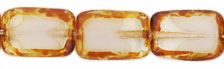Polished Rectangles 12 x 8mm : Crystal/White - Picasso