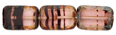 Polished Rectangles 12 x 8mm : Rosaline Tortoise - Picasso