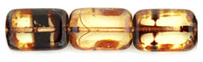 Polished Rectangles 8/12mm : Jonquil Tortoise - Picasso