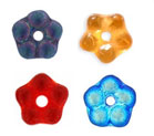 5mm Czech Pressed Glass Flower Spacer Beads