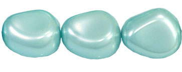 Pearl Coat - Nugget 15/13mm: Pearl - Baby Blue