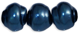 Pearl Coat - Snail Shells 9 x 8mm: Pearl - Royal Blue