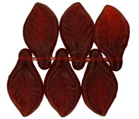 Mini Leaves 11 x 6mm : Siam Ruby