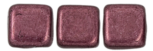 CzechMates Tile Bead 6mm : ColorTrends: Saturated Metallic Red Pear