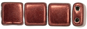 CzechMates Tile Bead 6mm : ColorTrends: Saturated Metallic Chicory Coffee