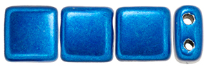 CzechMates Tile Bead 6mm : ColorTrends: Saturated Metallic Galaxy Blue