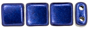 CzechMates Tile Bead 6mm : ColorTrends: Saturated Metallic Evening Blue