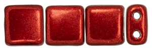 CzechMates Tile Bead 6mm : ColorTrends: Saturated Metallic Merlot