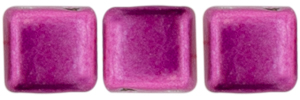 CzechMates Tile Bead 6mm : ColorTrends: Sueded Gold Fuchsia Red