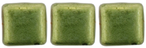 CzechMates Tile Bead 6mm : ColorTrends: Sueded Gold Fern
