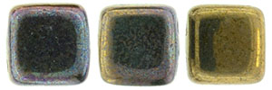 CzechMates Tile Bead 6mm : Oxidized Bronze Clay