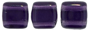 CzechMates Tile Bead 6mm : Tanzanite