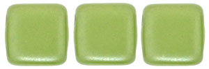 CzechMates Tile Bead 6mm : Pearl Coat - Olive