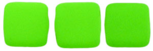 CzechMates Tile Bead 6mm : Neon Green