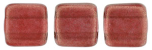 CzechMates Tile Bead 6mm : Halo - Cardinal