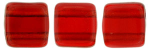 CzechMates Tile Bead 6mm : Siam Ruby