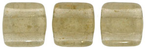 CzechMates Tile Bead 6mm : Gold Marbled - Black Diamond