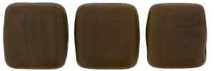 CzechMates Tile Bead 6mm : Matte - Chocolate Brown