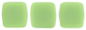 CzechMates Tile Bead 6mm : Sueded Gold Honeydew