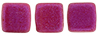 CzechMates Tile Bead 6mm : Opalescent Neon Pink