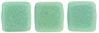 CzechMates Tile Bead 6mm : Sueded Olive Turquoise