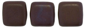 CzechMates Tile Bead 6mm : Chocolate Brown - Matte Bronze Vega
