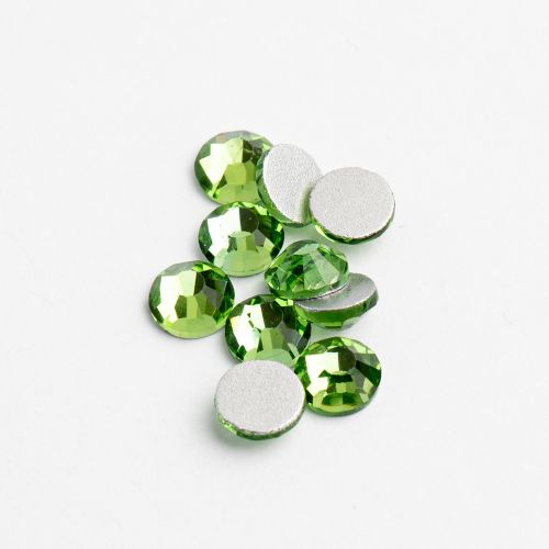 Crystal Lane Flat Back Rhinestones ss16 (4mm) - Peridot