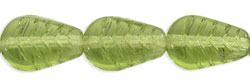 Vintage Style Leaves 12 x 8mm : Olivine
