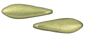 CzechMates Two Hole Daggers 16 x 5mm : ColorTrends: Saturated Metallic Limelight