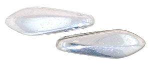 CzechMates Two Hole Daggers 16 x 5mm : Silver
