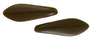 CzechMates Two Hole Daggers 16 x 5mm : Matte - Chocolate Brown