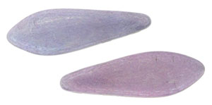 CzechMates Two Hole Daggers 16 x 5mm : Luster - Opaque Amethyst