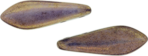 CzechMates Two Hole Daggers 16 x 5mm : Luster - Opaque Bronzed Smoke