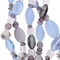 Strung Pressed Bead Mixes : Lilac Mix