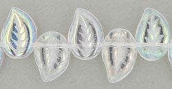 Eucalyptus Leaves 12/9mm : Crystal AB