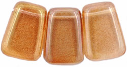 Wedge Tablets 14 x 10mm : Luster - Pink Lemonade (16 inch strand)